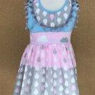 NEW Girls Boutique Rain Cloud Sleeveless Tiered Dress 3-4 5-6 6-7 7-8
