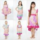 NWT Jelly The Pug Unicorn Pink Bri Mischa Priscilla Jenny Flo Girls Ruffle Dress