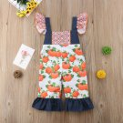 NWT Baby Girls Pumpkin Sleeveless Ruffle Romper Jumpsuit 12-18 18-24 Months