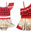NWT Disneys Moana Girls Tankini Bikini One Piece Skirtet Swimsuit Bathing Suit