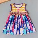 NEW Boutique Feathers Girls Sleeveless Dress 3-4 5-6 6-7 7-8