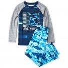 NWT The Childrens Place Sharks Boys Long Sleeve Blue Pajamas Set