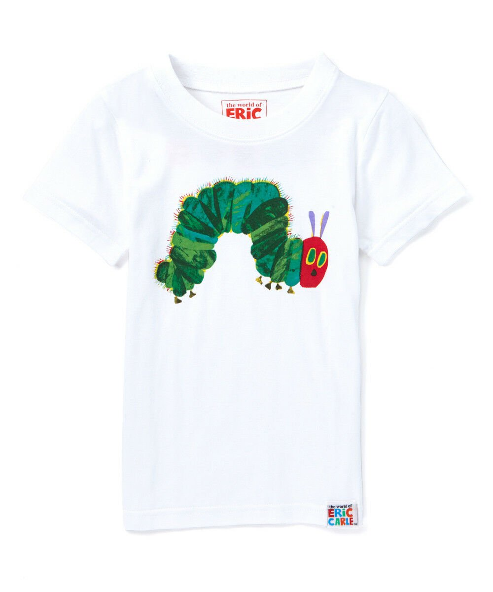 NWT Eric Carle Very Hungry Caterpillar Boys White Short Sleeve Shirt 2T 3T 4T 5T
