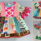 NEW Girls Boutique Multi-Print Short Sleeve Ruffle Dress 3-4 5-6 6-7 7-8