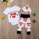 NWT 'Mama's Boy' Bodysuit Pants & Hat Baby Valentine's Day Outfit