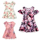 NWT The Childrens Place Girls Floral Short Sleeve Dress 2T 3T 4T