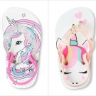 NWT The Childrens Place Unicorn Toddler Girls Flip Flops Sandals Shoes