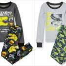 NWT The Childrens Place Boys Glow-In-The-Dark Dinosaur Video Games Pajamas Set