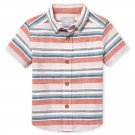 NWT The Childrens Place Toddler Boys Striped Chambray Button-Down Shirt