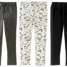 NWT Crazy 8 Black Sparkle Glitter Sequin Stripe White Sketch Girls Leggings