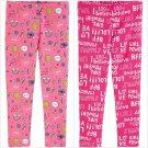 NWT Carter's Emoji Girl Power Toddler Girls Pink Leggings 3T 4T 5T