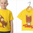NWT Curious George Boys Yellow Short Sleeve Shirt 2T 3T 4T 5T