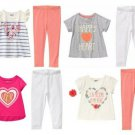 NWT Crazy 8 Valentines Day Heart Tunic Shirt Lace Trim Leggings Girls Outfit