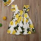 NWT Girls Lemon Citrus White Yellow Sleeveless Dress 2T 3T 4T5T