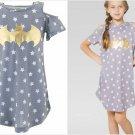 NWT DC Comics Batgirl Batman Gray Cold Shoulder Nightgown Pajamas