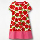 NEW Strawberry Girls Short Sleeve Shift Dress 2T 3T 4T 5T