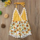 NEW Sunflowers Baby Girls Yellow Sleeveless Romper Jumpsuit Outfit