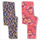 NWT Crazy 8 Girls Floral Blue Pink Leggings 5-6 7-8 10-12 14-16