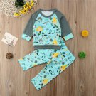 NEW Mermaid Under Sea Baby Girls Turquoise Long Sleeve Shirt Pants Outfit Set