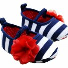 NEW Baby Girl 4th of July Mary Jane Ballet Crib Shoes 0-6 6-12 12-18 M