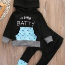 NWT Boys Black Hooded Sweater Pants Halloween Bat Outfit 2T 3T 4T