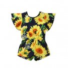 NWT Sunflower Girls Floral Black Sleeveless Romper Jumpsuit 2T 3T 4T 5T