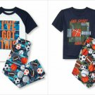 NWT The Childrens Place Sports Short Sleeve Pajamas Set 5-6 7-8 10-12 14 16