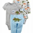 NWT Carters Baby Boys Dinosaur Bodysuit Pants Little Character Outfit Set