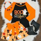 NEW Boutique Miss Bootiful Ghost Shirt  Skirt Girls Outfit Set