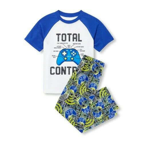 NWT The Childrens Place Total Control Gamer Boys Short Sleeve Pajamas Set