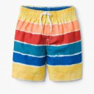 NWT Gymboree Boys Rainbow Striped Board Shorts Swim Trunks Swimsuit
