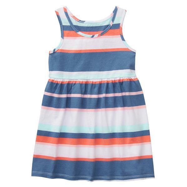 NWT Gymboree Striped Blue White Sleeveless Girls Sun Dress Everyday Playwear