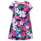 NWT Gymboree Woodland Weekend Floral Blue Short Sleeve Girls Dress 3T 4T 5T