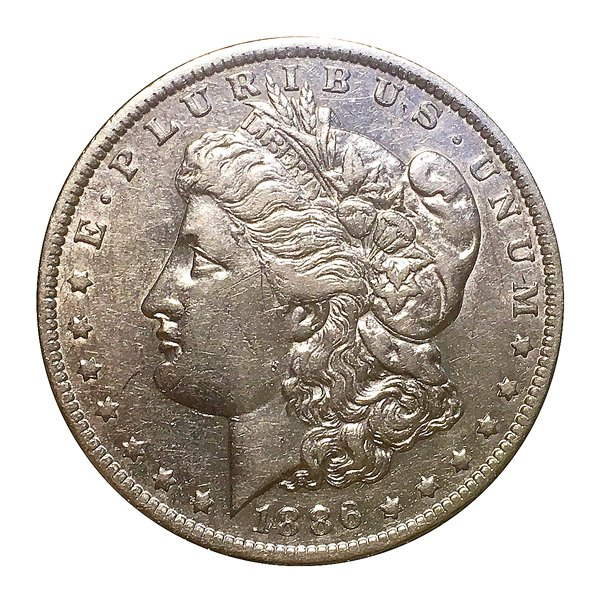 1886 O Morgan Silver Dollar - AU - Almost Uncirculated - Luster