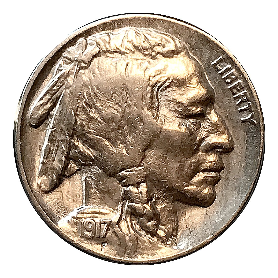 1917 P Buffalo Nickel - BU / MS / UNC