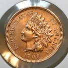 1908 Indian Head Cent - Choice BU / MS RD / UNC