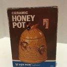 New in Box VTG Ceramic Honey Pot with Bee Design 10 Oz. Fox Run Craftsmen 1986