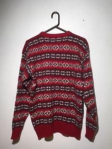Vintage Chaps Ralph Lauren Boy Scout Label Wool Size Large Men Sweater Christmas