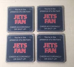 Tree-Free Greetings NFL New York Jets  Football Fan 4-Pack Artful Coaster Set