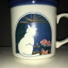 Otagiri Japan Art Pottery Sitting Pretty Kitty Cat In Window Coffee Tea Mug Cup