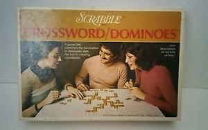 Vintage Scrabble Crossword Dominoes Word Game - Selchow & Righter 1975 Complete