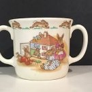 Royal Doulton 1936 Bunnykins Double Handled Mug w/ Bunnies Playing in Dollhouse