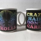 Set Of Two New Trolls Crazy Hair Don't Care! ZAK Designs Inc. Coffee Mugs Cups