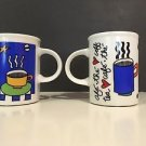 Cafe Marc Tetro Coffee Mug Danesco Stars Blue Black White Multicolor