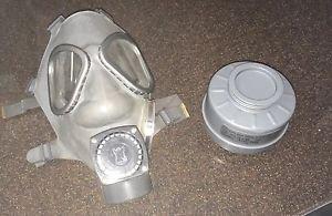 NOS Finnish M61 Gas Mask w/ NOKIA Amplifier & 60mm NBC Filter (Small) 3rd GEN.