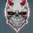 Huge Skull Patch Motorcycle biker sew on embroidery
