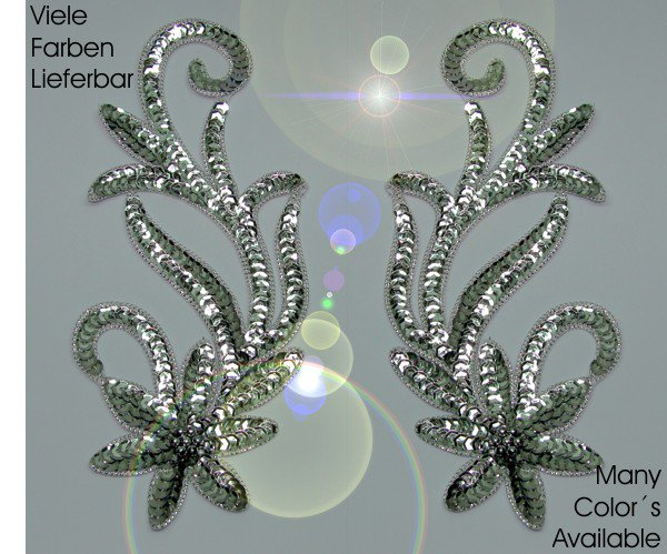appliques sequins applikationen pailletten sew on embroidery handmade ap2