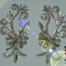 a pair appliques sequins applikationen pailletten sew on embroidery handmade ap8