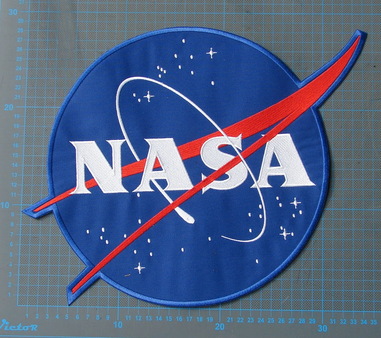 NASA Seal Patch seat cover huge sew on embroidery