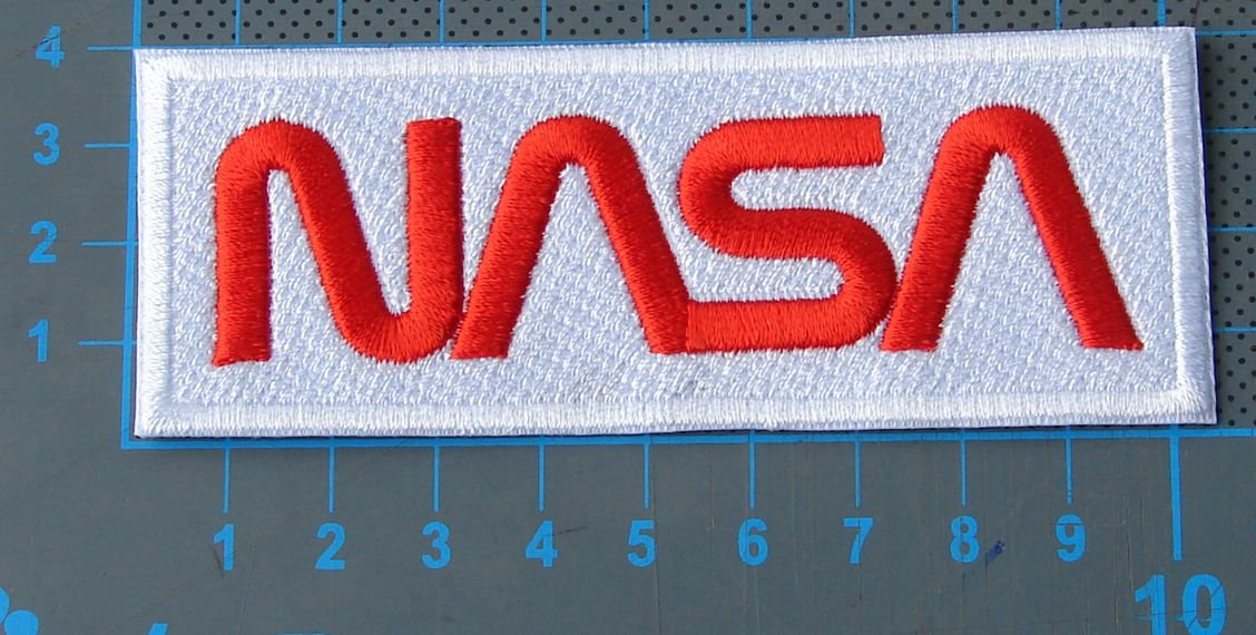 NASA Worm Patch sew on embroidery